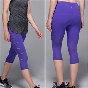Lululemon Breezy Crop Leggings Purple